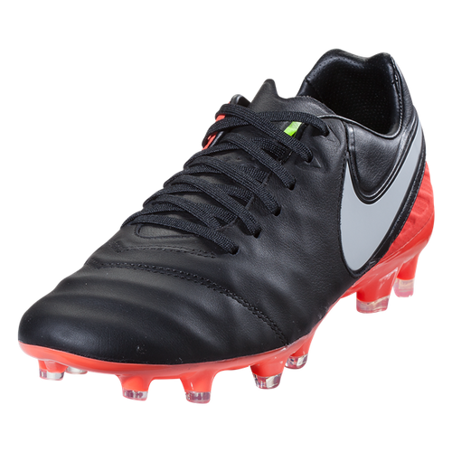 Nike Tiempo Legacy II FG - Black/White/Hyper Orange/Volt