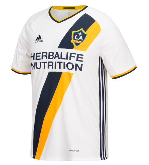 adidas 2016/17 LA Galaxy Home Youth Jsy - White/Collegiate Navy/Collegiate Gold (32318))