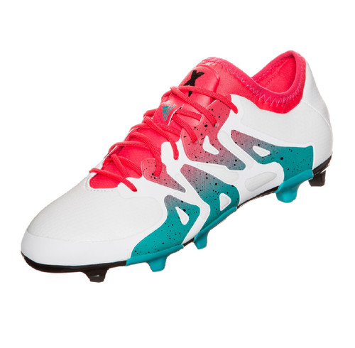 adidas Womens X 15.1 FG/AG RC - White/Shock Green/Core Black RC (9318)