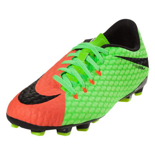 c5453ae85 Nike Jr Hypervenom Phelon III FG - Electric Green/Hyper Orange - ohp ...