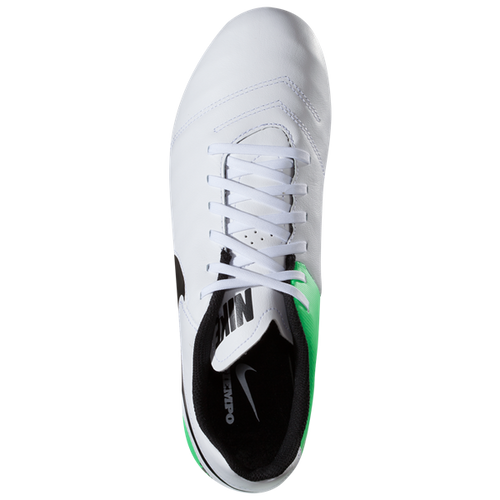 ecdefabae897 ... Nike Tiempo Genio II Leather FG - White Black Electro Green(41917) ...