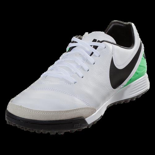 new arrival 2279a 7e01b Nike TiempoX Genio II Leather TF - WhiteBlackElectro Green(4