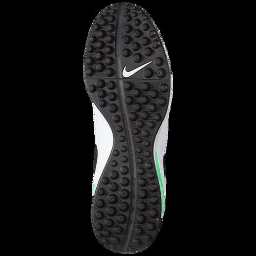 low cost 8b2df 59496 ... Nike TiempoX Genio II Leather TF - WhiteBlackElectro Green(41917)