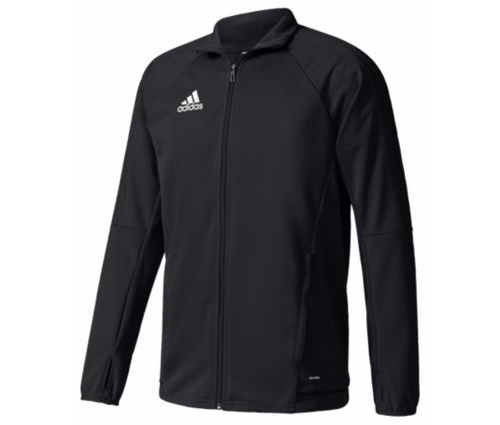 adidas Tiro 17 Training Jacket - Black/Black