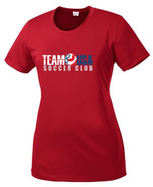 Team USA Women's Coach's Tee - Red