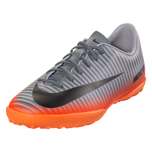 Nike Jr MercurialX Victory 6 CR7 TF - Cool Grey/Metallic Hematite/Total Orange (5117)