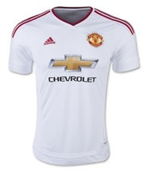 adidas  Manchester United 15/16 Away Jersey - White