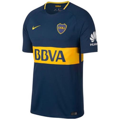 Nike Boca Juniors Home Jersey 2017-2018 - Navy/Yellow  (10617)