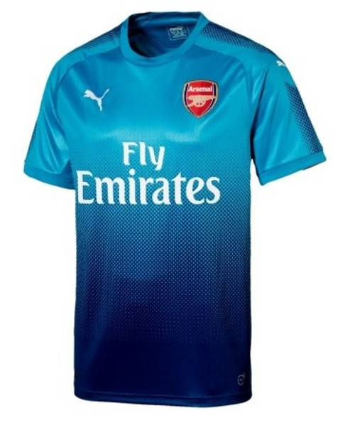Puma Arsenal 2017-2018 Away Jersey - Blue Danube/Limoges (10817)