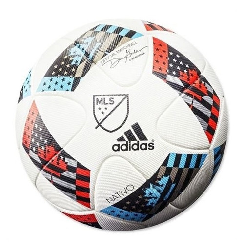 Adidas MLS Nativo Official Match Ball - White/Shock Blue/Black (41518)