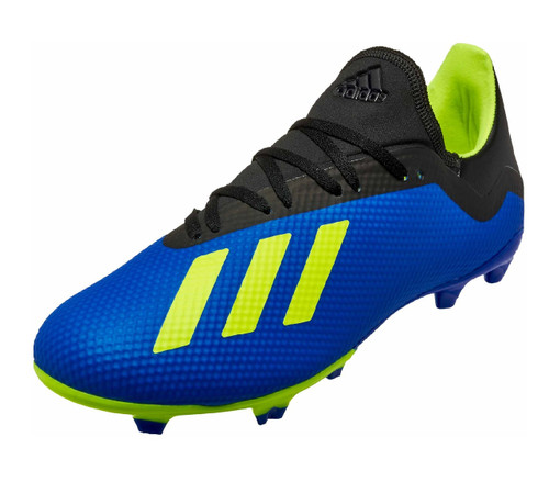 Adidas X 18.3 FG - Football Blue /Solar Yellow/Core Black (91518)