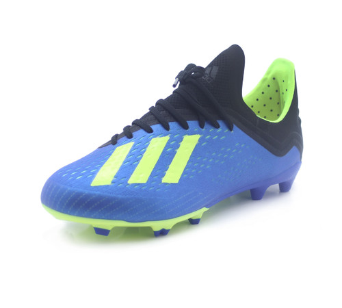 Adidas X 18.1 FG J - Football Blue/Solar Yellow/Core Black (91518)