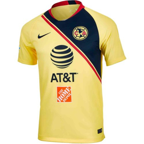 Nike Club America 18/19 Home Replica Jersey - Yellow/Navy (92118)