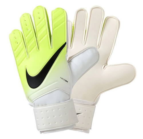 Nike GK Match Gloves - Bright White/Volt/Black (10818)