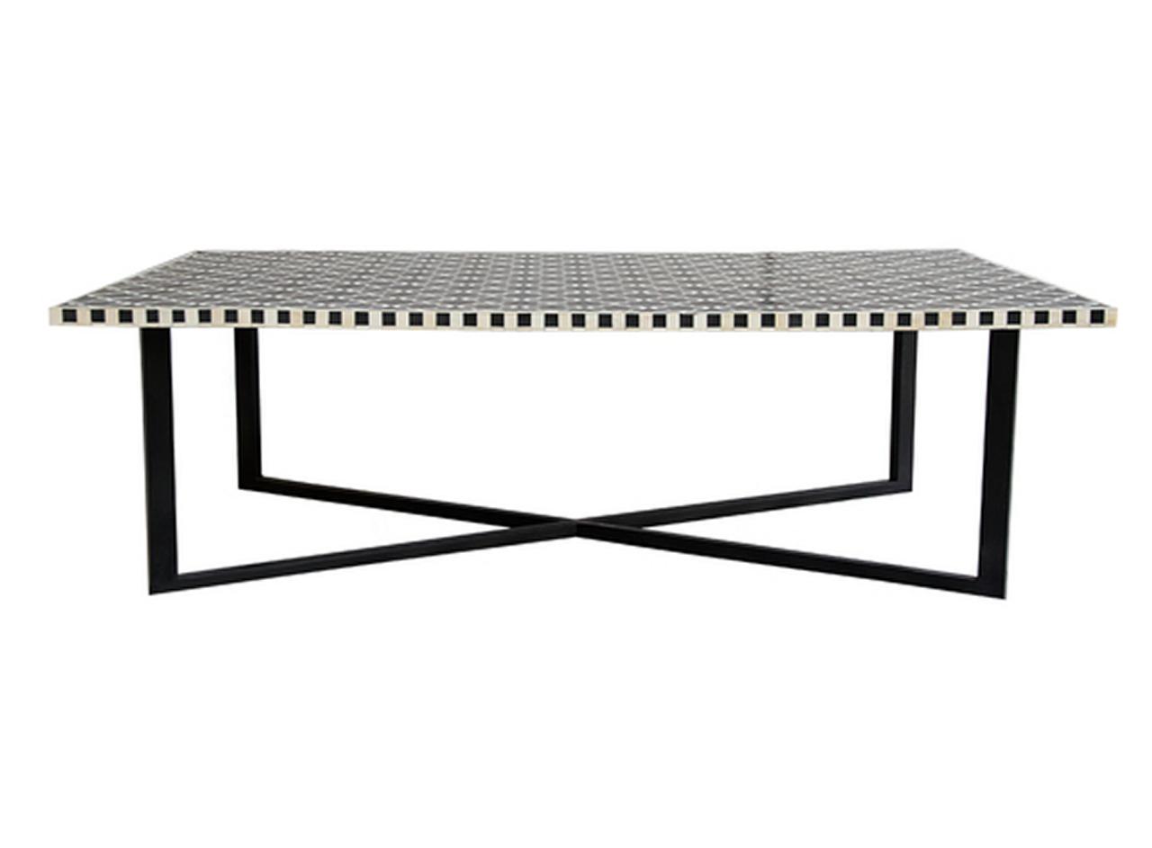 Bone Inlay Marrakech Coffee Table In Black