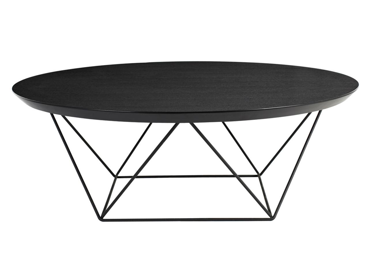 Como Coffee Table In Black Oak