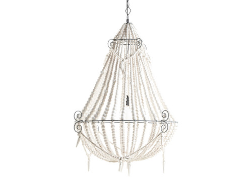 bead beautiful popular white wood buy cheap beaded chandelier of
