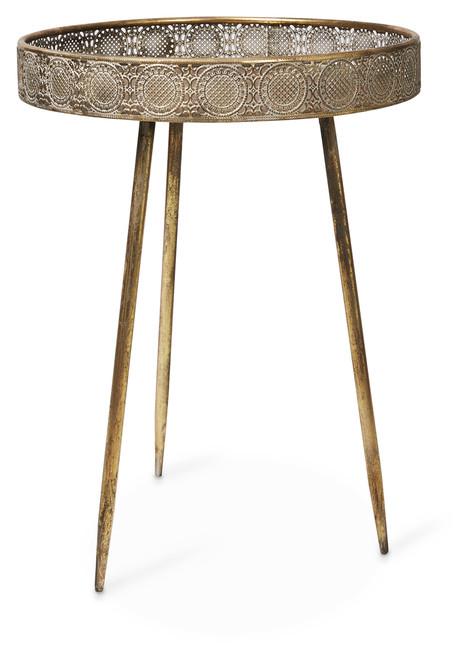 Filigree Metal Tray Table