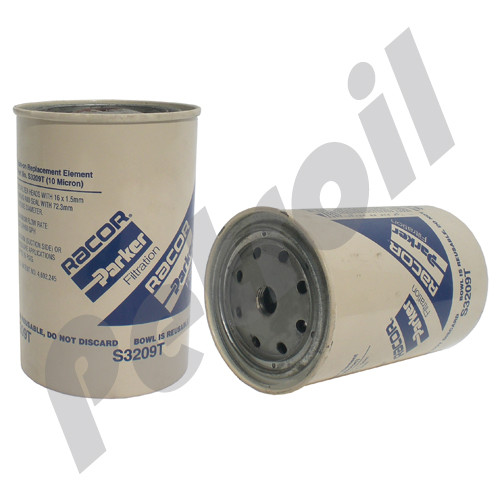 (Case of 12) S3209T Racor Element (Use Bowl) Water Separator Filter  Volvo/Scania/MAN/MTU 33358 PSC72/2 FF5052 10mic 60gph