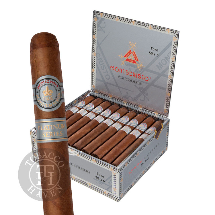 Montecristo - Platinum - Churchill Tubo Cigars, 7x50 (15 Count)