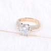 The Laruen Ring Series - Eternal Moissanite 2CT Center Round Brilliant Cut Engagement Ring