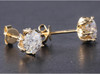 Eternal Moissanite 1.75CTW Flower Style Stud Earrings in 14K - DEAL!!