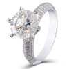 The CIARA Ring Series - Eternal Moissanite 5CT Round Brilliant Cut & Moissy Pave Set Accents Engagement Ring