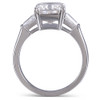 The Luna Ring Series - Eternal Moissanite 3.90CT Radiant Cut Center With Tapered Baguette Accents!  VIDEO BELOW!