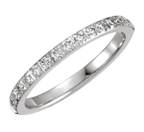 1/3CTTW Diamond Prong Machine Set Wedding Band 14K Gold
