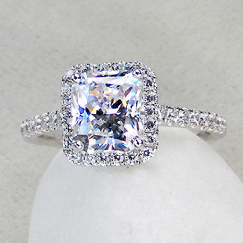 3 5 Cttw 3ct Center Princess Radiant Cut Nscd Simulated Diamond Engagement Wedding Ring Sizes 4 10