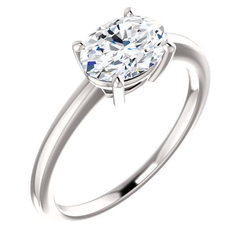 Aura East West Oval Bezel Engagement Ring 1 5ct Valerie