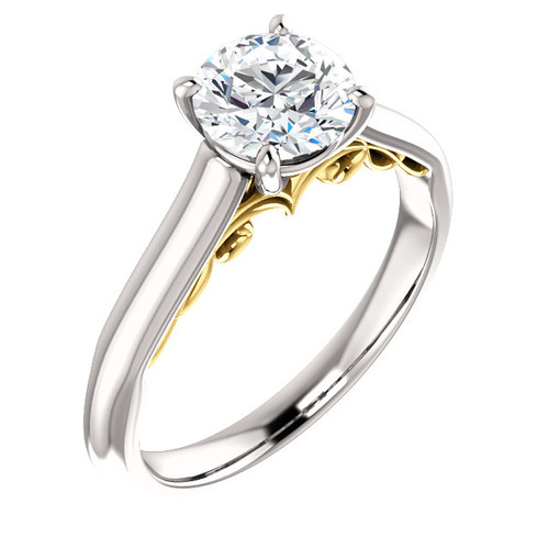The Faith Forever One Moissanite Solitaire Engagement Ring