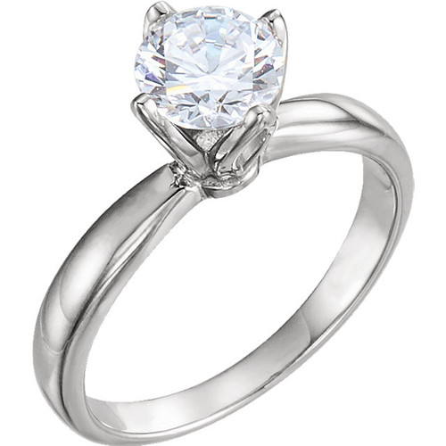 The Tulip Set Forever One Moissanite Solitaire Engagement Ring