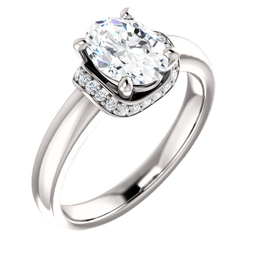 The Nora - NEO Moissanite 1.50CT Oval Cut Engagement Ring With Diamond Accents