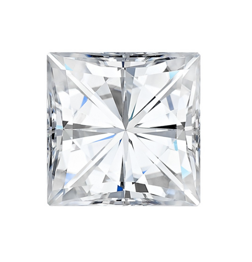 Forever One Princess Cut Colorless Loose Moissanite
