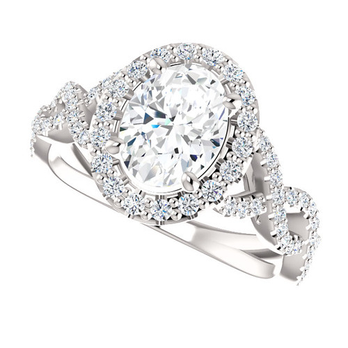 The Scarlett 1.50CT NEO Moissanite Oval Cut & Diamond Solitaire Engagement Ring