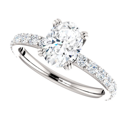 The Beverly 2 Forever One Moissanite Oval 1.50CT Solitaire Engagement Ring
