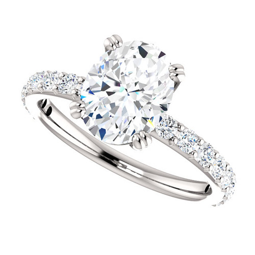 The Beverly 2 Forever One Moissanite Oval 2.26CT Solitaire Engagement Ring