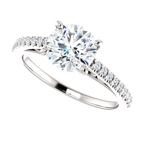 The Leyna Forever One Moissanite 1.25CT Round Cut Solitaire Engagement Ring
