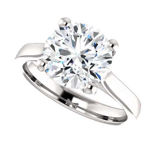 The Julia Ring Series - Eternal Moissanite 3CT Round Brilliant Cut Engagement Cathedral Style Solitaire Ring - VIDEO BELOW