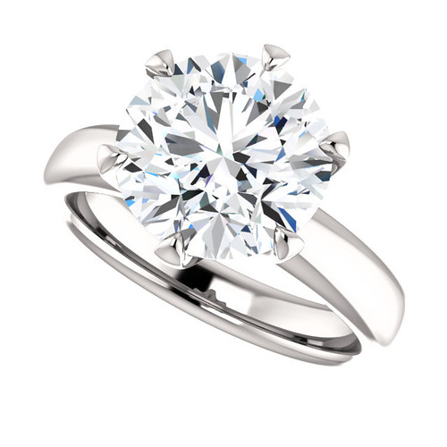 The Colleen Ring Series - NEO Moissanite 3CT Center Round Brilliant Cut - SEE VIDEO BELOW