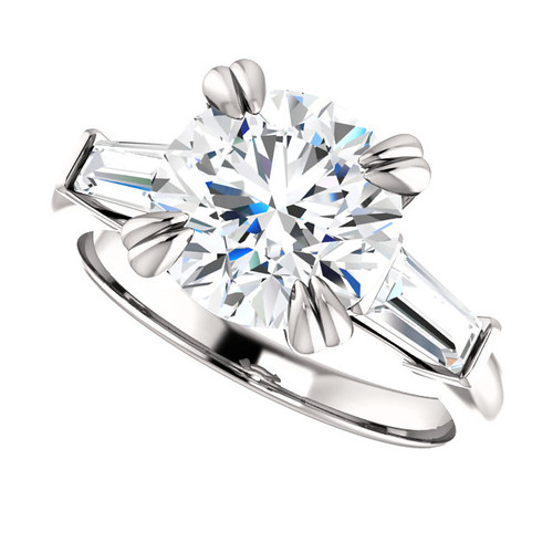The Charity Series Ring - Eternal Moissanite 3CT = 9mm Round Brilliant Cut Engagement Ring