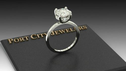 The Vanessa Ring Series - NEO Moissanite 2CT Center Round Diamond Cut & Diamond Collar