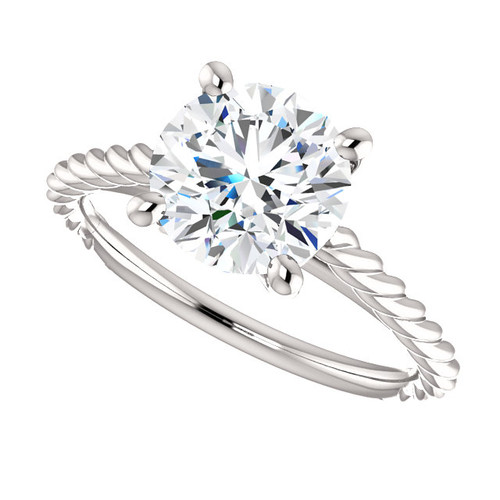 The Faye Ring Series - Eternal Moissanite 2CT Round Brilliant Cut Engagement Ring