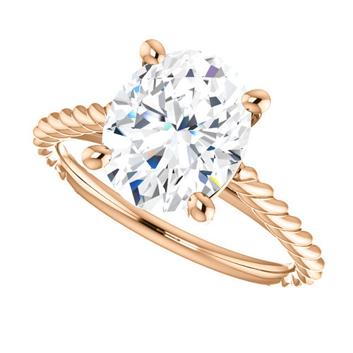 The Faye Ring Series - Eternal Moissanite 3CT Oval Cut Engagement Ring