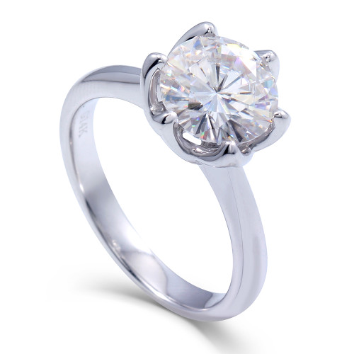The Aliza Ring Series - Eternal Moissanite 3CT Round Brilliant Cut Engagement Ring - VIDEO BELOW