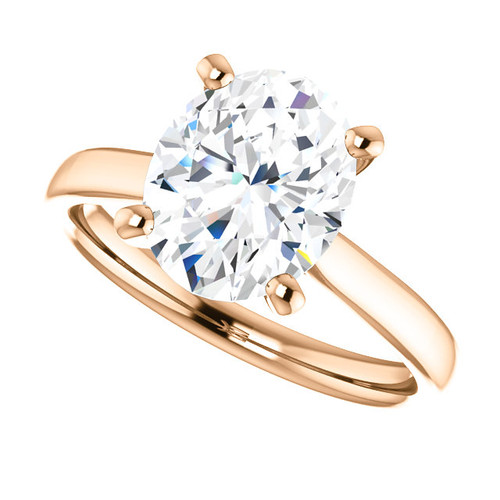 The Amira Ring Series - Eternal Moissanite 3CT Oval Cut Center Catherdral Engagement Ring
