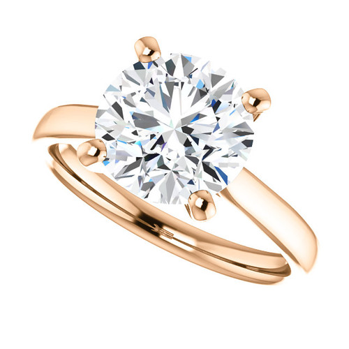 The Amira Ring Series - Eternal Moissanite 3CT Round Diamond Cut Center Catherdral Engagement Ring