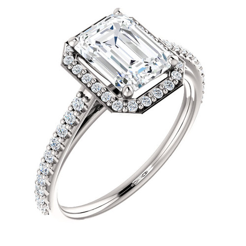 The Jackie Ring Series - Eternal Moissanite 1.75CT Emerald Cut Engagement Ring