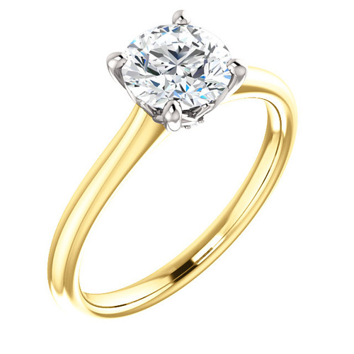 The Jasper Ring Series - Forever One Hearts & Arrows DEF Moissanite 1CT Round Cut Solitaire Engagement Ring